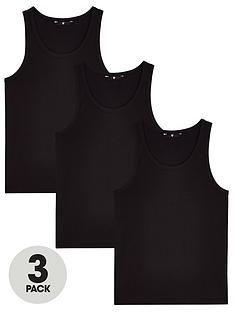 very-man-essentialsnbspvest-3-pack-blacknbsp