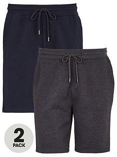 very-man-essential-2-pack-jog-shorts-navycharcoal