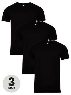 very-man-3-pack-muscle-fit-slub-t-shirt-black