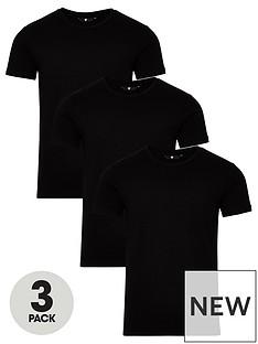 very-man-3-pack-muscle-fit-slub-t-shirt-black