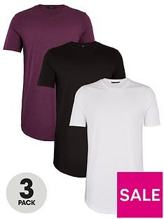 very-man-essentialnbsplong-line-slub-t-shirt-3-pack-multi