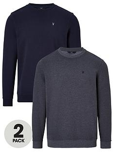 very-man-essential-crew-sweat-2-pack-navycharcoal