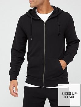 very-man-essential-zip-front-hoodie-black