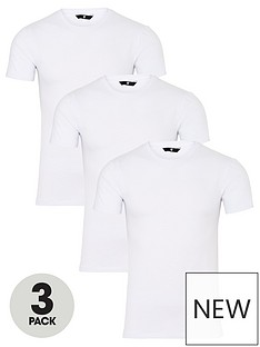very-man-3-pack-muscle-fit-slub-t-shirt-white