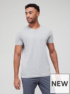 very-man-essentials-v-neck-t-shirt-grey-marl