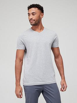 very-man-essentials-v-neck-t-shirt-grey-marl