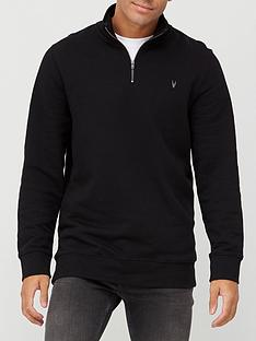 very-man-essential-zip-funnel-neck-top-black