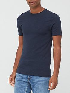 very-man-muscle-fit-slub-t-shirt-navy