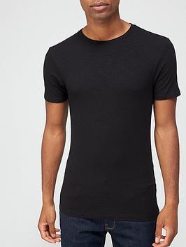 very-man-muscle-fit-slub-t-shirt-black