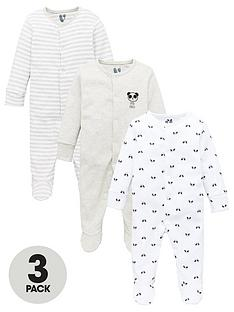 v-by-very-baby-unisex-3-pack-panda-sleepsuits-multi