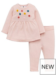 v-by-very-baby-girls-pom-pom-knitted-dress-and-legging-set-pink