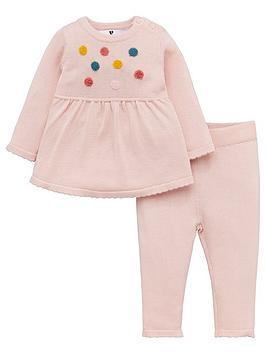 v-by-very-baby-girls-pom-pom-knitted-dress-and-legging-set-pink