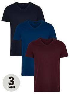very-man-essentialsnbspv-neck-t-shirt-3-pack-multi