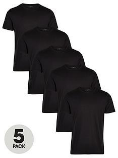 very-man-essentials-5-pack-crew-t-shirt-black
