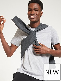 very-man-essentials-crew-t-shirt-grey-marl