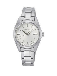 seiko-sur633p1nbspladies-stainless-steel-white-dial-classic-bracelet-watch