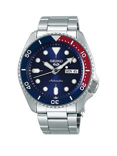 seiko-seiko-5-stainless-steel-blue-dial-red-accent-bezel-bracelet-watch