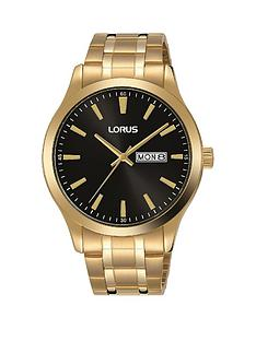 lorus-classic-gold-stainless-steel-black-dial-bracelet-mensnbspwatch