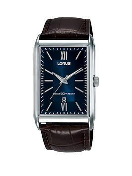 lorus-lorus-brown-croc-leather-strap-navy-square-dial-dress-watch