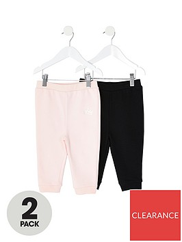 river-island-mini-girls-2-pack-jog-pants--nbsppinkblack