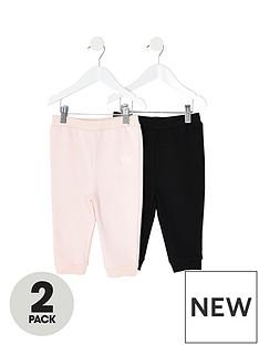 river-island-mini-mini-girls-2-pack-jog-pants-pinkblack