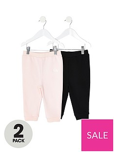 river-island-mini-mini-girls-2-pack-jog-pants-pinkblack