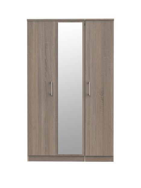 swift-halton-part-assembled-3-doornbspmirrored-wardrobe