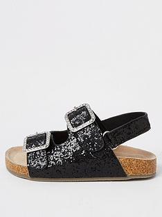 river-island-mini-girls-glitter-cork-sandalnbsp-nbspblack