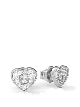 guess-pave-crystal-heart-stud-earrings