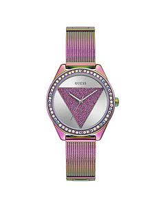 guess-guess-tri-glitz-multi-coloured-glitz-logo-dial-mesh-strap-watch