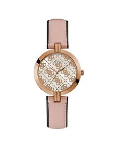 guess-guess-g-luxe-logo-dial-pink-leather-strap-watch