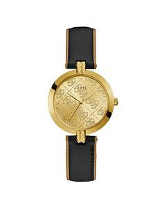 guess-guess-g-luxe-gold-logo-dial-black-leather-strap-watch