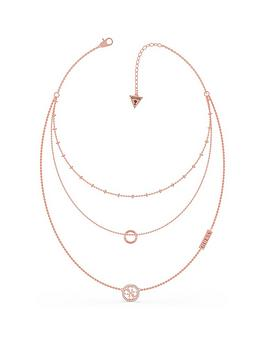 guess-triple-chain-circle-necklace