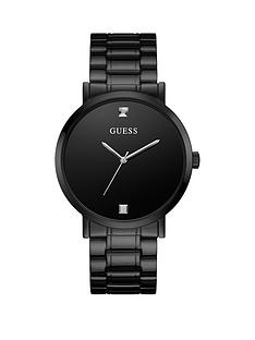 guess-guess-supernova-black-diamond-set-dial-black-bracelet-mens-watch