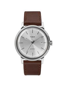 timex-timex-marlin-automatic-40mm-case-silver-dial-and-brown-leather-strap