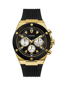 guess-guess-poseidon-gold-and-black-mens-silicone-strap-watch