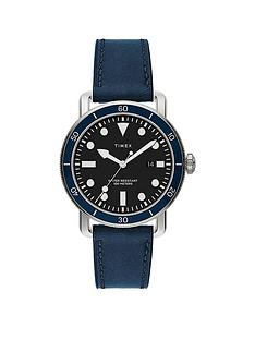 timex-port-42mm-blue-leather-strap-watch
