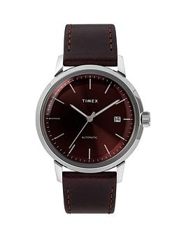 timex-timex-marlin-automatic-40mm-case-burgundy-dial-and-mesh-strap