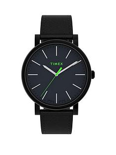 timex-timex-originals-42mm-black-leather-strap-watch