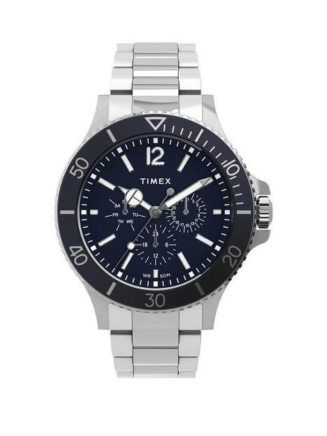 timex-timex-harborside-multifunction-43mm-stainless-steel-blue-dial-bracelet-watch