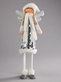 festive-64nbspcm-standing-silver-and-white-sequin-angel-christmas-decoration