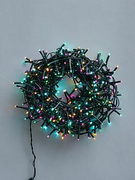 Product photograph showing Festive 360 Battery Operated Aurora Sparkle Christmas Lights - 9m Lit Length