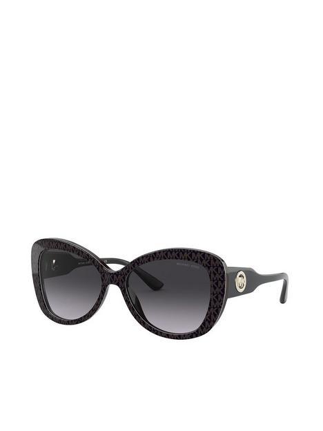 michael-kors-oval-sunglasses-dark-brown-mk-jacquard-logo