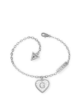 guess-pave-crystal-heart-bracelet