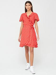 superdry-summer-wrap-dress-red