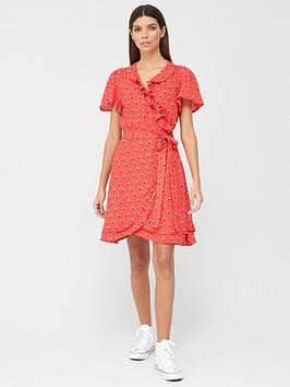 superdry-summer-wrap-dress-red