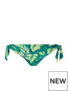 accessorize-leaf-print-tie-side-bikini-brief-green