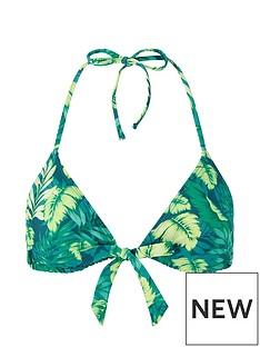 accessorize-leaf-print-tie-front-triangle-bikini-top-green
