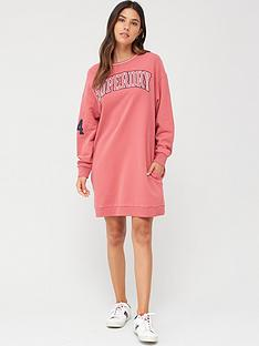 superdry-coded-sweat-dress-dusty-pink