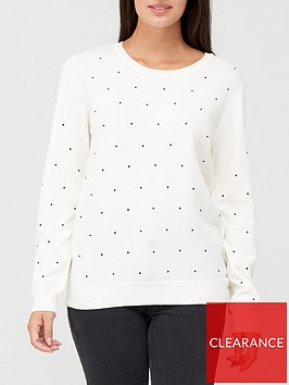 v-by-very-spot-knitted-crew-neck-jumper-white